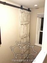 ANTIQUE WHITE DISTRESSED DOOR 6