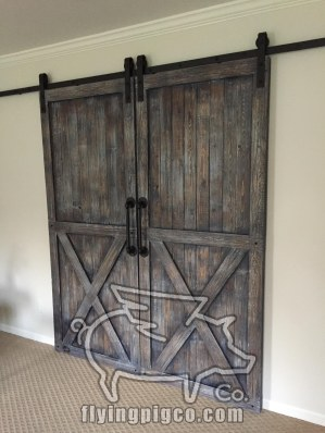 DISTRESSED FRENCH DOUBLE DOORS 2