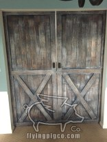 DISTRESSED FRENCH DOUBLE DOORS