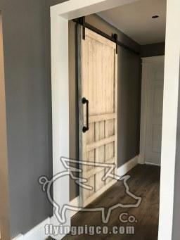 INSTALLED DISTRESSED BARN DOOR 2