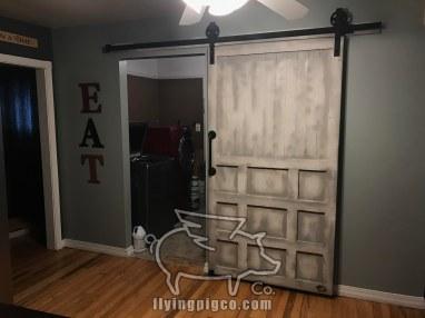 INSTALLED DISTRESSED BARN DOOR 4