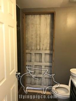 INSTALLED DISTRESSED BARN DOOR