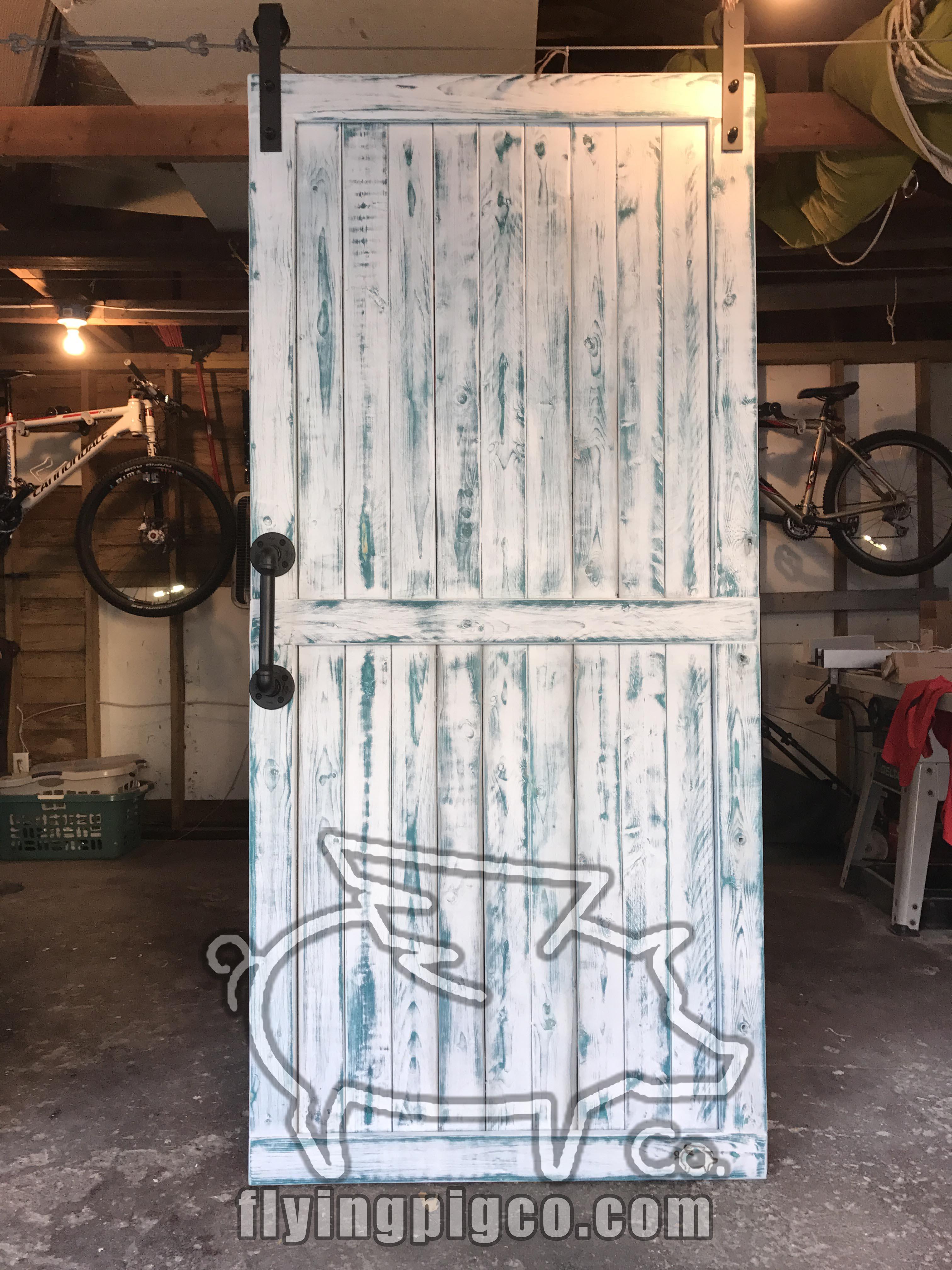 UNIQUE DISTRESSED BARN DOOR 10 & Unique Distressed Doors   Flying Pig Co.
