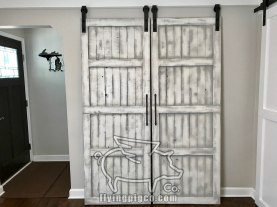 WHITE DISTRESS FRENCH DOORS 2