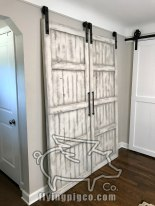 WHITE DISTRESS FRENCH DOORS 5
