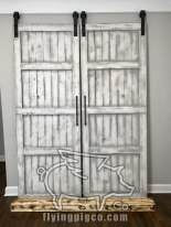 WHITE DISTRESS FRENCH DOORS 6
