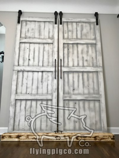 WHITE DISTRESS FRENCH DOORS 7
