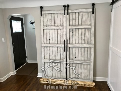 WHITE DISTRESS FRENCH DOORS 8