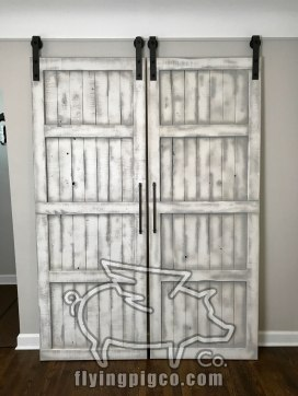 WHITE DISTRESS FRENCH DOORS