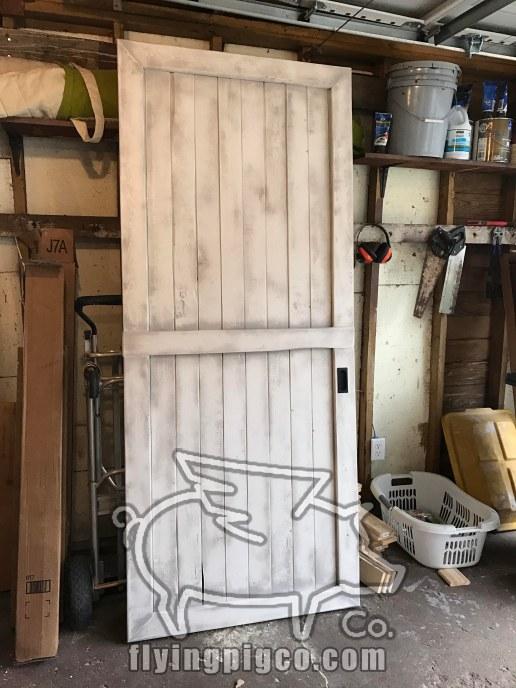 WHITE DISTRESSED DOOR