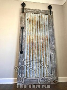 DISTRESSED METAL DOOR