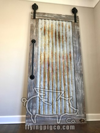 DISTRESSED METAL DOOR