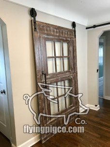 Walnut Distressed Sash Window Door 2