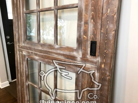 Walnut Distressed Sash Window Door 7