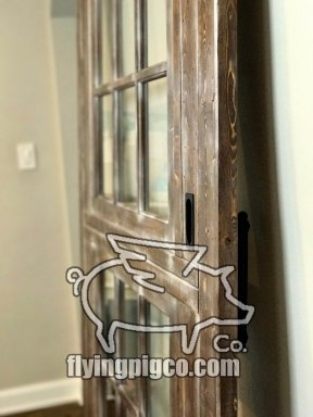 Walnut Distressed Sash Window Door 8