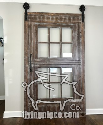 Walnut Distressed Sash Window Door