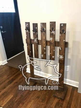 STOCKING STAND HAND PAINTED 4